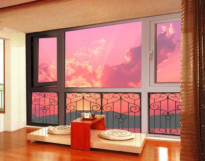 4.Wrought iron glass panel