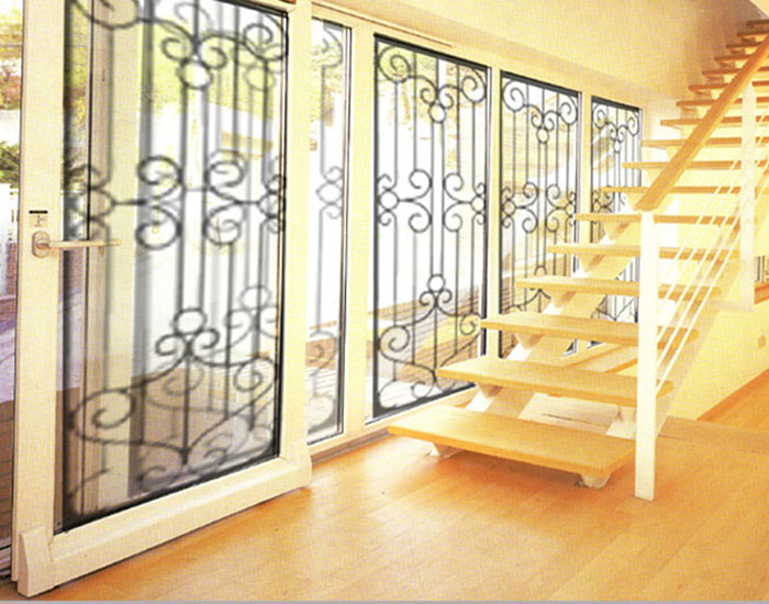 6.Wrought iron glass panel